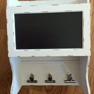 Shabby Chic Hanging Chalkboard with Clips